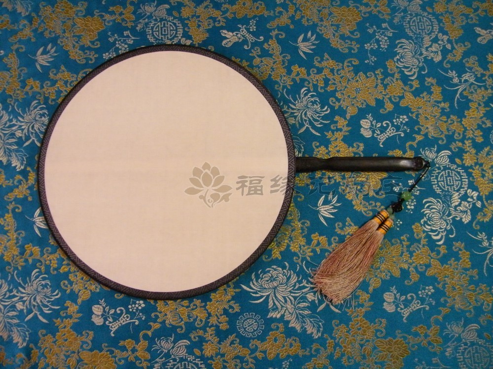 点击查看商品:红木 包边 小 宫扇 真丝 双面 团扇  (圆型)