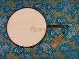 商品名称:红木 包边 小 宫扇 真丝 双面 团扇  (圆型)