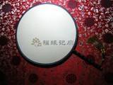 商品名称:红木 包边 大 宫扇 真丝 双面 团扇  (圆型)