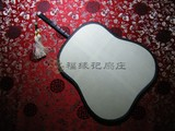 商品名称:红木 包边 大 宫扇 真丝 双面 团扇  (芭焦型)