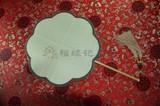 商品名称:精品宫扇 玉竹 真丝 双面 圆柄 团扇 宫扇(八瓣海棠型)